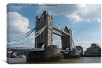 Tower Bridge in London from below, Canvas Print