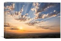 Devil's Dyke Evening over Sussex, Canvas Print