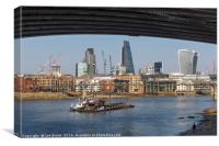 London Skyline and the River Thames, Canvas Print