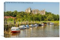 Arundel Castle and the River Arun, Canvas Print