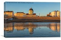 Worthing Beach and The Dome, Canvas Print