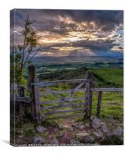 View through the Gate, Mid Wales, Canvas Print