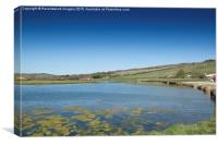 The cuckmere looking North, Canvas Print
