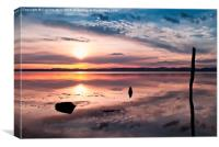 Sunset on the River Tay, Canvas Print