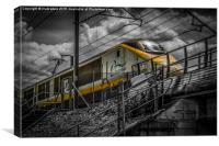 Eurostar - A Close Up As It Passes Overhead, Canvas Print