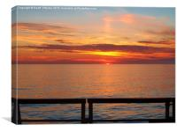 Sunset Over the Rail, Canvas Print