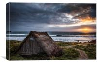 Freshwater West Seaweed Drying Hut, Canvas Print
