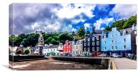Painted houses in Tobermory Isle of Mull  Scotland, Canvas Print