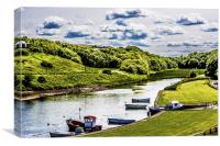 Once a thriving port - Seaton Sluice , Canvas Print