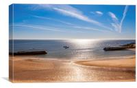 Cullercoats Bay , Canvas Print