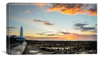 The amazing lighthouse St. Mary's , Canvas Print