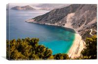 Mystical Myrtos............., Canvas Print