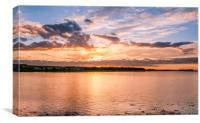 Sunset over the Bay.........., Canvas Print