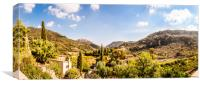 Panoramic View from the Monastery Valldemossa , Canvas Print