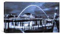 The Millennium Bridge all in Blue, Canvas Print