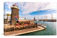 The Lighthouse at the Marina Rubicon , Canvas Print