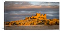 Bamburgh Castle from the beach at Easter, Canvas Print