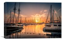 Sun Sets at Marina Rubicon , Canvas Print
