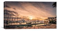 Marina Rubicon evening sunset, Canvas Print