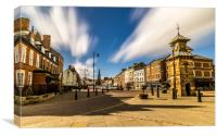 Historic Tynemouth Front Street, Canvas Print