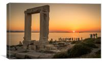Sun Worship in Naxos, Canvas Print