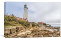 St. Mary's from the rocky shore, Canvas Print