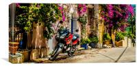 Motorbike in Colour, Canvas Print
