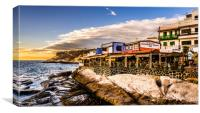 High and Dynamic La Caleta, Canvas Print