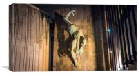 The River God at the Civic Centre, Canvas Print