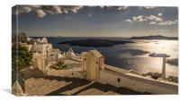 The View from Fira, Canvas Print