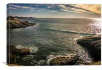 View over Costa Adeje Bay, Canvas Print
