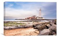 St Mary's from the Beach, Canvas Print