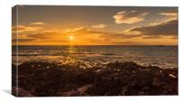 El Cabezo sunset, Canvas Print