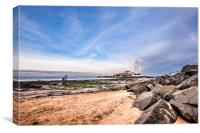 St. Mary's Lighthouse and Visitor Centre, Canvas Print