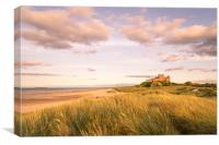 Bamburgh Castle Historic site, Canvas Print