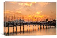 The beautiful sunset at Marina Rubicon, Canvas Print