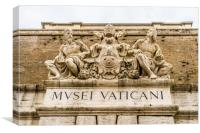 The Vatican Museum entrance, Rome, Italy, Canvas Print