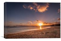 Stunning Sunset at Playa Dorada , Canvas Print