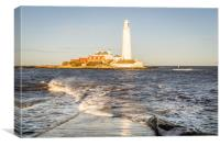 A Winters Day at the lighthouse, Canvas Print