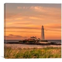 Summers evening sunset at St. Marys, Canvas Print