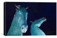 The Kelpies by Andy Scott - Falkirk, Scotland, Canvas Print