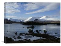 Black Mount in winter , the Highlands , Scotland, Canvas Print