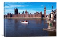 House of Parliament, Westminster, London, England, Canvas Print