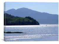 reflections on Loch Alsh looking towards the Isle , Canvas Print