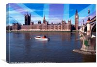 Houses of Parliament, Westminster, London, Canvas Print