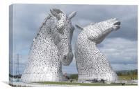 The new visitor centre at the Kelpies in Helix Par, Canvas Print
