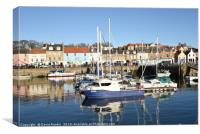 Anstruther harbour , Fife , in winter, Canvas Print