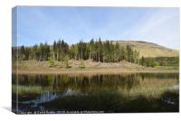Loch Lubnaig in the Highlands of Scotland, Canvas Print