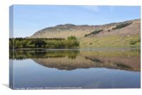 Loch Lubhair in the Highlands of Scotland, Canvas Print