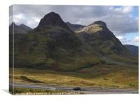 the Paps of Glencoe in the Highlands of Scotland, Canvas Print